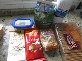 Tarta de galletas y crema Kinder Thermomix