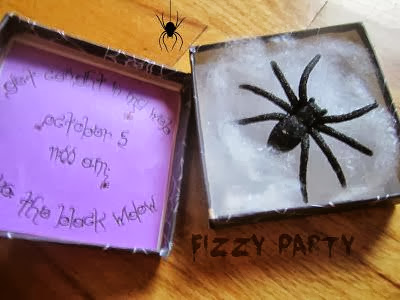 Spider invitation, DIY invite, Halloween invite