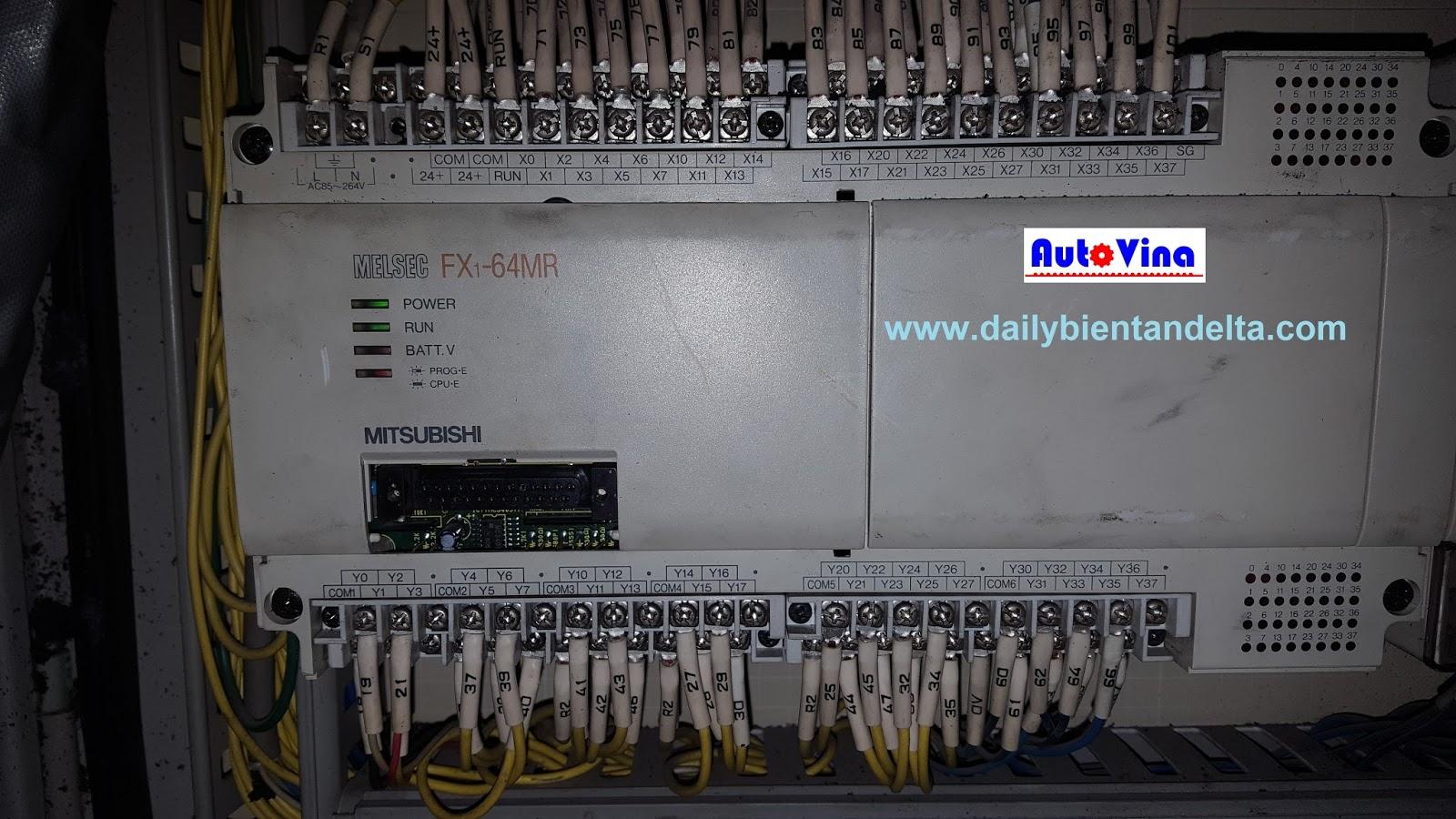 Sửa chữa máy tự động dùng PLC Mitsubishi FX1-64MR