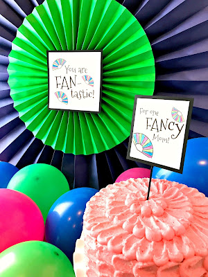 Fantastic Party for mom- full of fan puns!