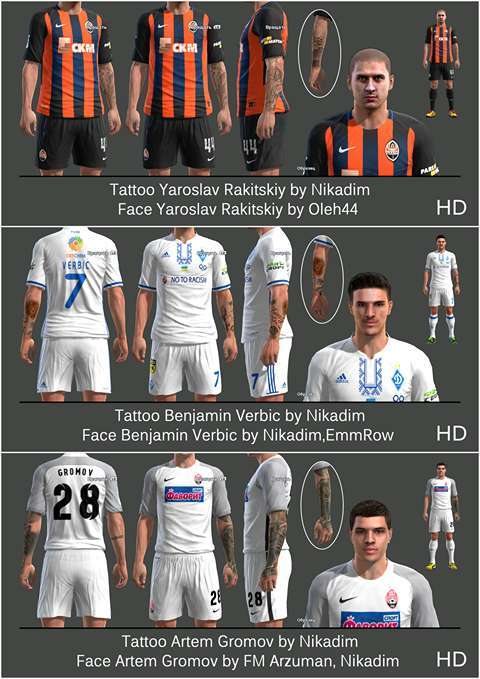 UPL Mini Tattoo Pack 2018 PES 2013