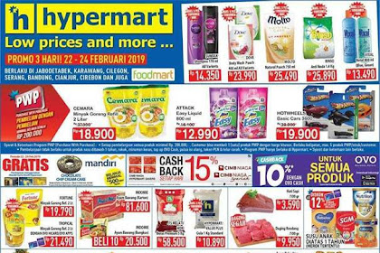Promo Hypermart JSM Weekend 22 - 24 Februari 2019