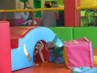 up close and personal in the soft play area