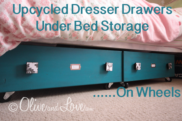 These dresser drawers with wheels make great under bed storage.