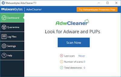 برنامج AdwCleaner أقوى منظف فايروسات
