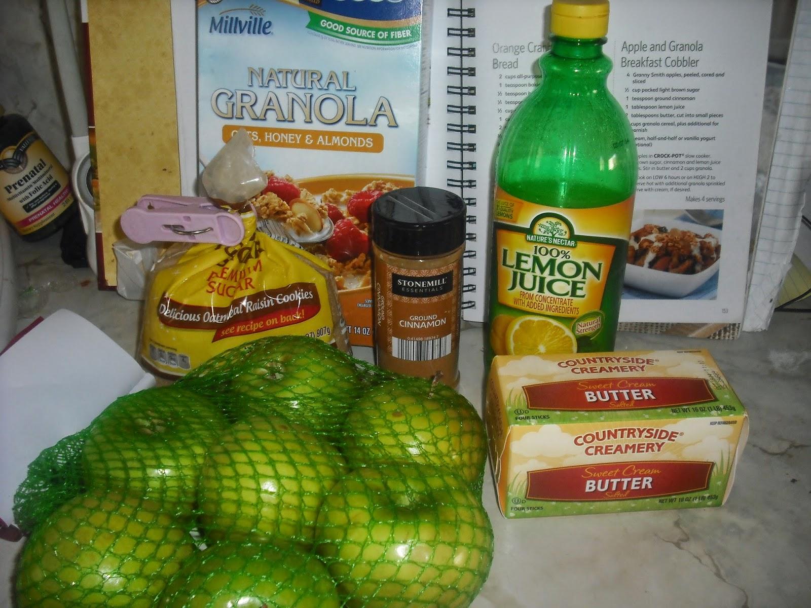 365 No Repeats: June 18: Apple and Granola Breakfast Cobbler
