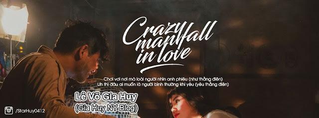 PSD Ảnh Bìa Crazy man fall in love ( Thằng Điên )