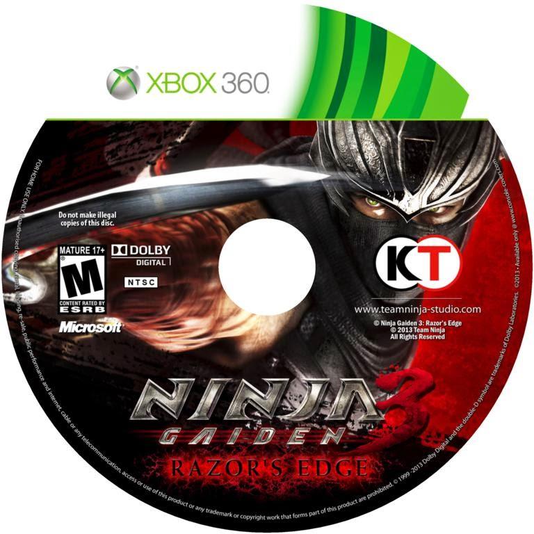 Covers Movie Gtba Ninja Gaiden 3 Razor S Edge Capa E Label Game