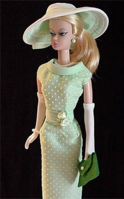 The Ever Fashionable Silkstone Barbie in Dotted Swiss Dress