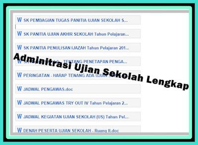 Download Administrasi Ujian Sekolah Lengkap Untuk UTS, US, UAS, UKK, UNAS Terbaru