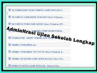 Download Administrasi Ujian Sekolah Lengkap Untuk UTS, US, UAS, UKK, UAS Terbaru
