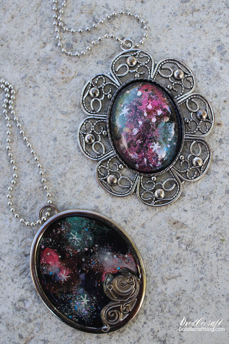 doodlecraft: galaxy pendants!