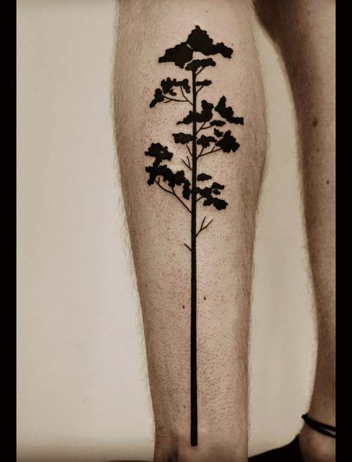 çok uzun ağaç dövmesi very long tree tattoo