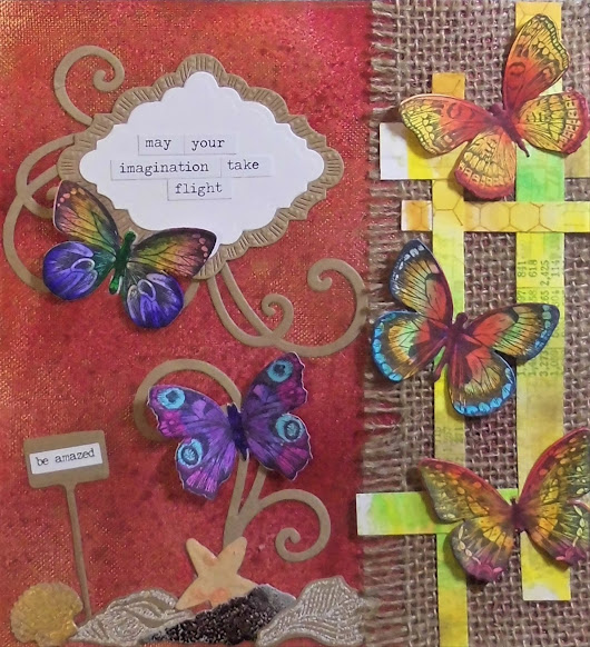 Art Journal Assemblage: Flight of Imagination