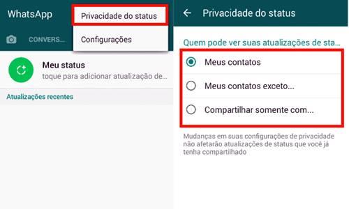 Veja como restringir quais contatos poderão visualizar o seu status no WhatsApp