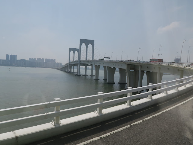 view from the bus; bridge