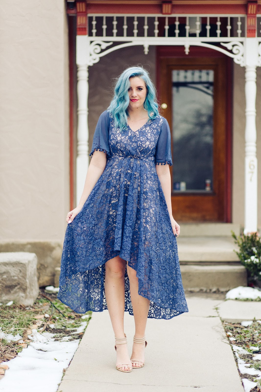 High Low Dress, Utah Fashion blogger, Modest Spring Outfit