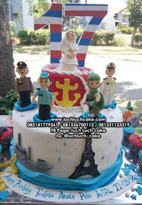 Kue Tart Ulang Tahun Ke - 17 Tahun Tema Tentara