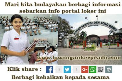 Lowongan kerja solo di Rumah Sakit dr. OEN Solobaru