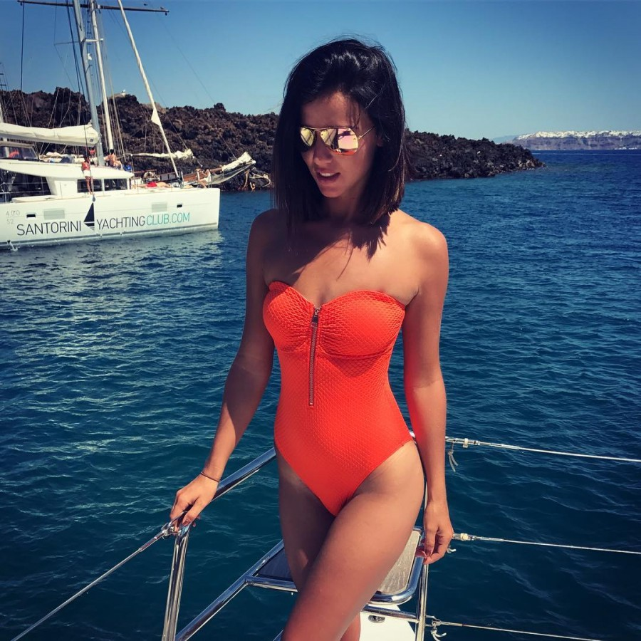 Model Lucy Mecklenburgh Shows Her Toned Figure In Swimsuit