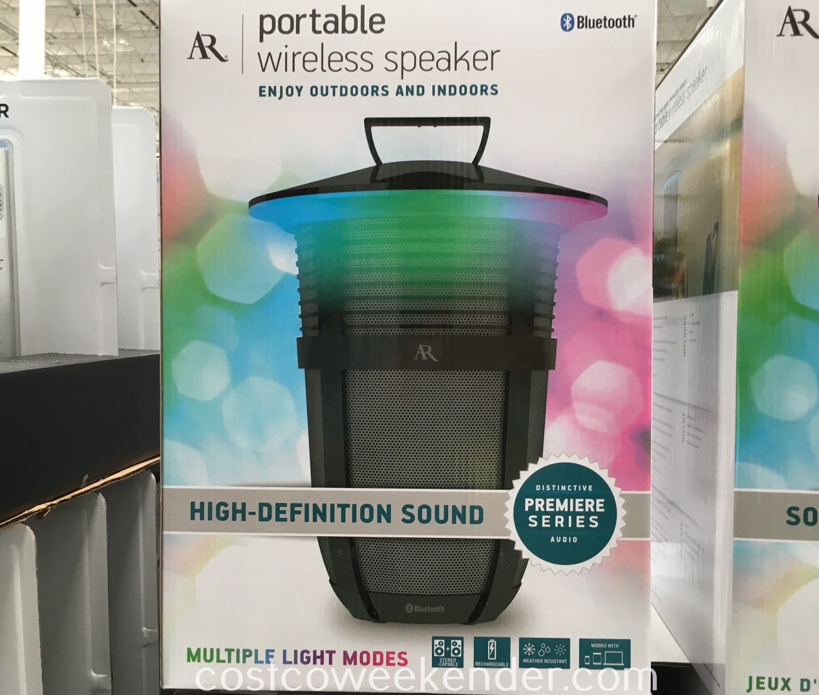 Acoustic Research Santa Clara Portable Wireless Speaker Flexible Indoors And Outdoors