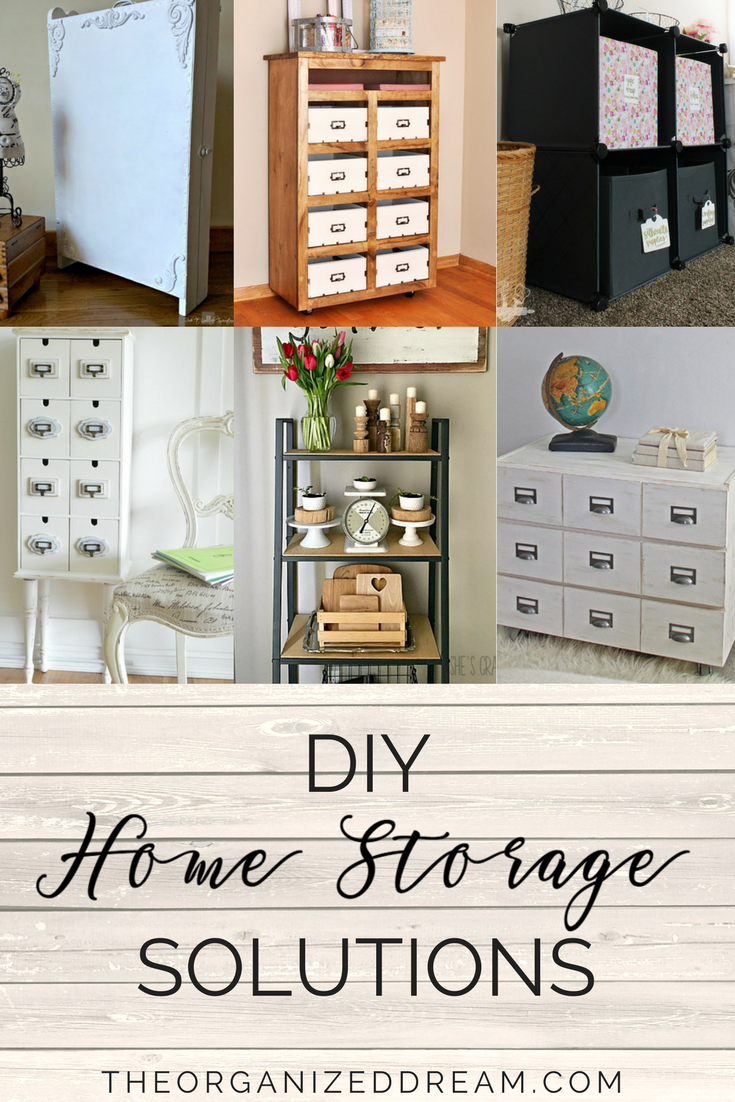 Thanks for stopping by for another awesome Merry Monday link party but first letu0027s check out some awesome DIY home storage ideas from last weeku0027s party!  sc 1 st  The Organized Dream & DIY Home Storage Solutions - MM #141 - The Organized Dream