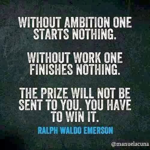 Without Ambition...