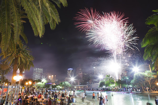 Brisbane just welcomed in 2017