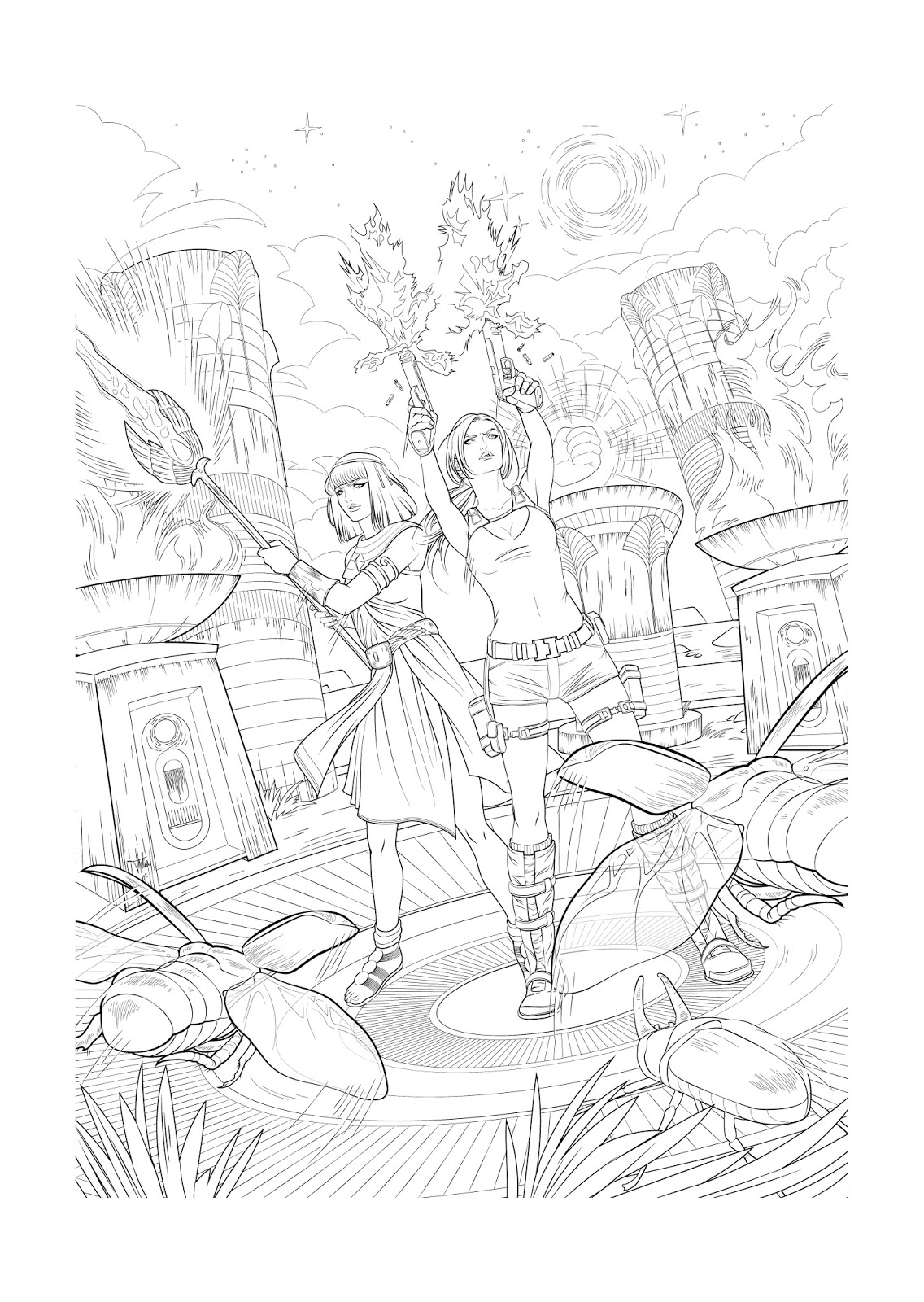 maxraider tomb raider coloring pages