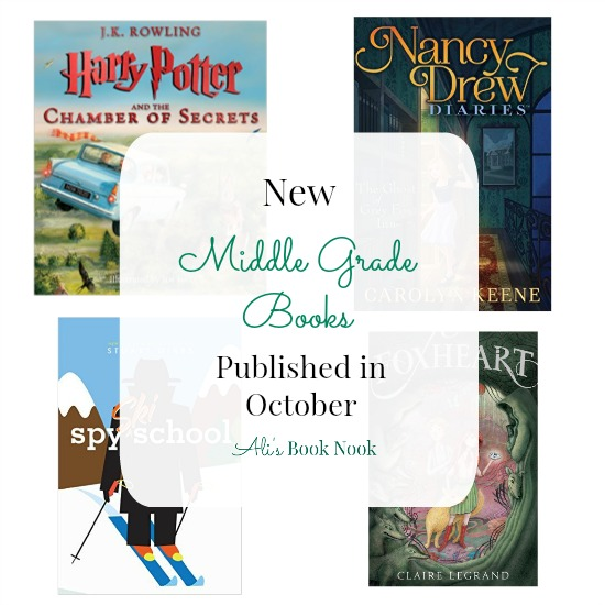 8 middle grade books being published in october