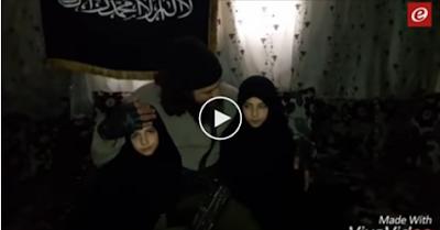 بالفيديو : لحظه اقناع والد الطفله التي فجرت نفسها بدمش بالعمليه !