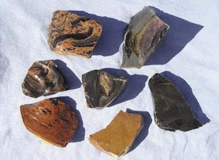 various types of obsidian