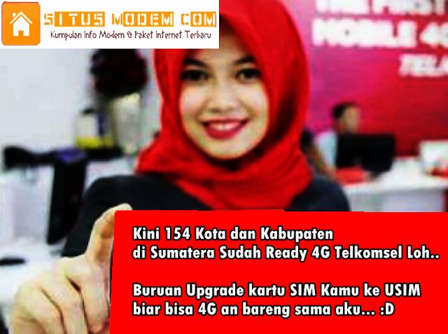 Jaringan 4G Telkomsel Di Sumatera Telah Mengcover 154 Kota dan Kabupaten