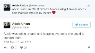 Adele Makes Emotional Grenfell Visit