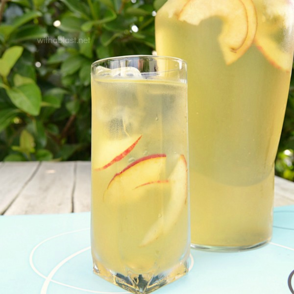 This Apple and Ginger Cooler can be made in advance and kept in the refrigerator until ready to serve ~ helps with heartburn and is kid-friendly too !