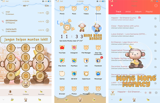 Oppo Theme: Mong Mong Monkey Theme