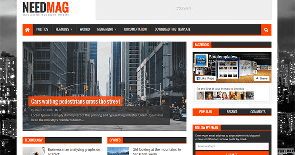 How To Setup Need Mag Blogger Template - Sora Blogging Tips