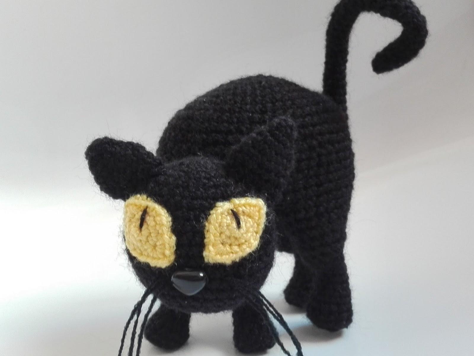 Amigurumi Gato Negro : Pequegumis: gato de halloween