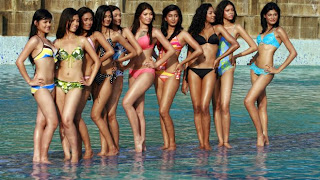 Miss World Contestants in Bikini