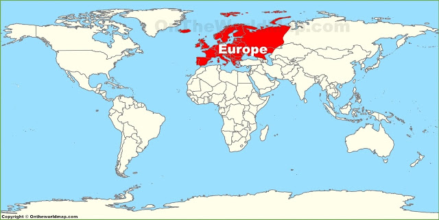 World map of Europe