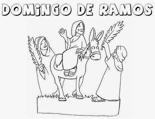 Dibujos Domingo De Ramos Para Colorear Dibujos Para Niños