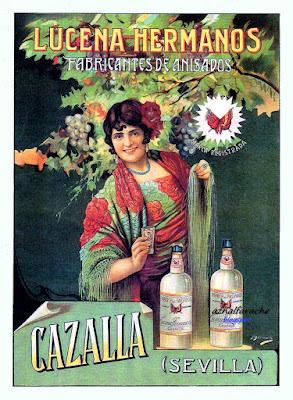 Cartel publicitario de Lucena Hermanos (1930) - CAZALLA  - Juan José Barreira Polo