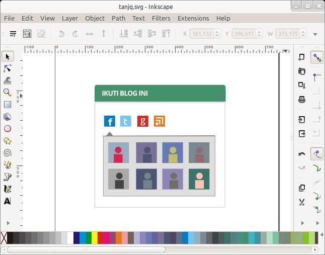 Desain gadget blog dengan Inkscape