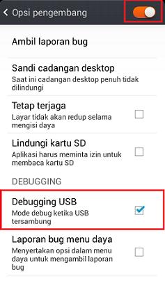 Mengaktifkan Debugging Mode