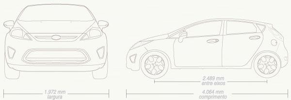 New Fiesta Hatch: Dimensões e especificações do New Fiesta