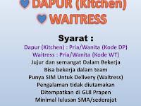 lowongan kerja waiters resto galang 8