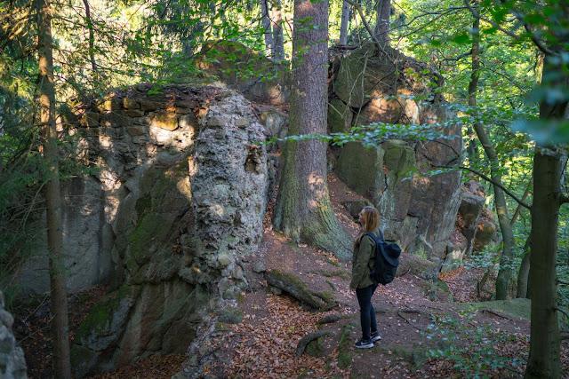 Sonnenaufgang an der Rabenklippe  Luchsgehege und Eckerstausee  Wandern in Bad Harzburg 11