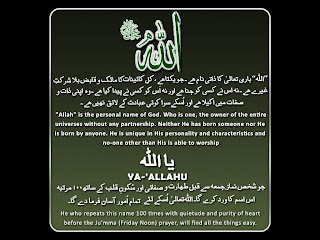 All About Islam: ALLAH Names and meaning