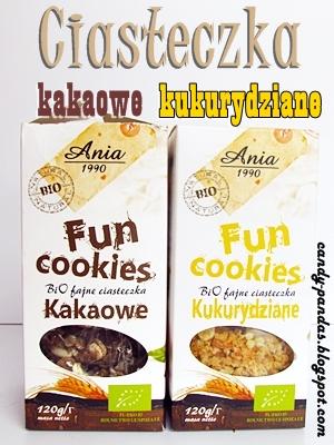 Fun Cookies kakaowe i kukurydziane - Ania