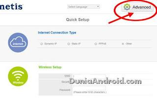 Login pada router Netis